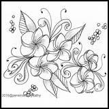 Lei Coloring Plum Artwork sketch template