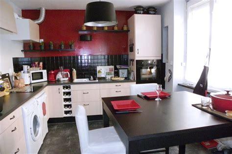cuisine en noir et blanc déco cuisine en noir et blanc