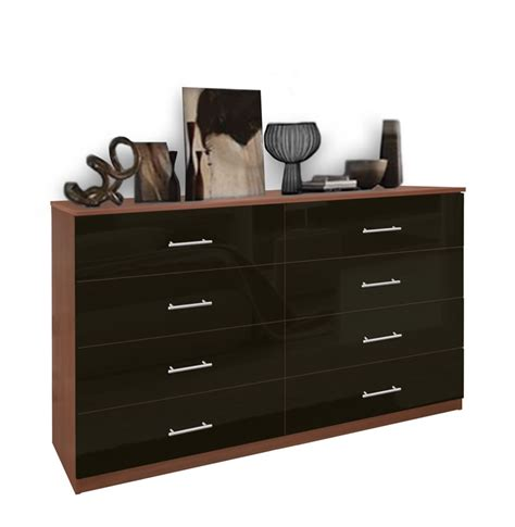 black dresser 8 drawer 8 drawer dresser chest of drawers contempo space