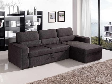 Convertible Furniture, Modern Black And White Fabric Brown