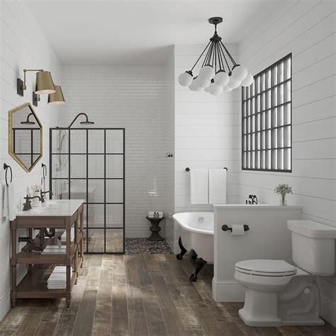 farmhouse bathroom floor 2018 bath tile trends you ll Modern