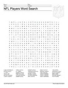 NFL Football Word Search Printable