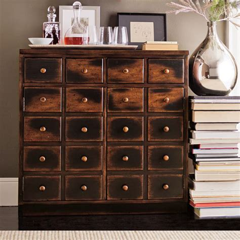 apothecary cabinet pottery barn andover cabinet weathered walnut finish