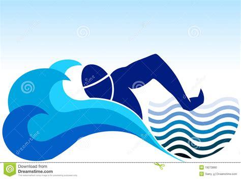 clipart nuoto swimming logo stock vector image of idea blue