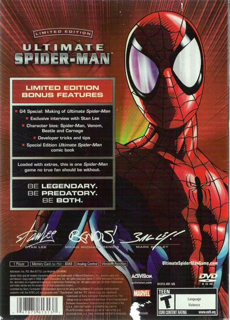ultimate spider man limited edition  playstation