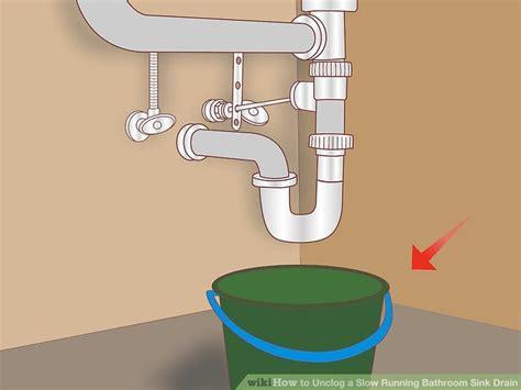 simple ways  unclog  bathroom sink wikihow