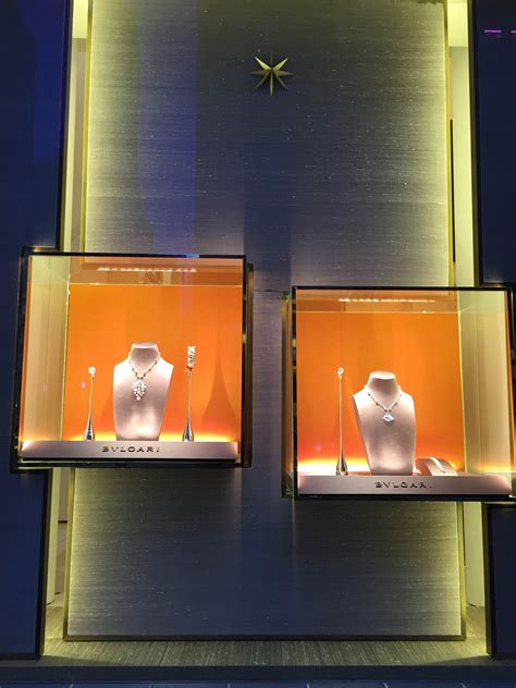 bvlgaris window displays york february fashion trendsetter