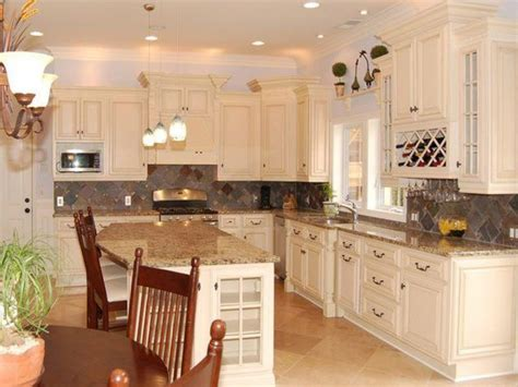 Antique White Kitchen Cabinets Home Design  Traditional