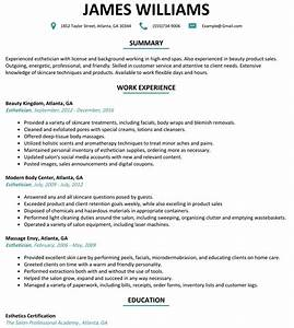 attractive esthetician resume summary picture collection With esthetician resume template