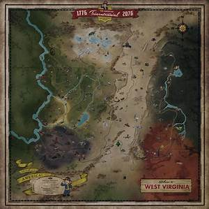 Fallout 76 Map Revealed Bethesda Weren39t Kidding Pure