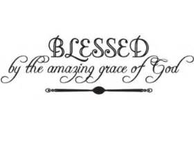 Primitive Living Room Wall Decor by Religious Wall Art Blessed By The Amazing Grace Of God
