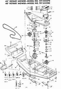 Mower Deck Diagram  U0026 Parts List For Model 917253370