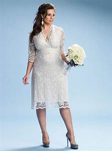 elegant plus size short lace wedding dresses sang maestro With plus size short wedding dress