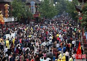 National Day Golden Week Holiday Crowds Throughout China ...