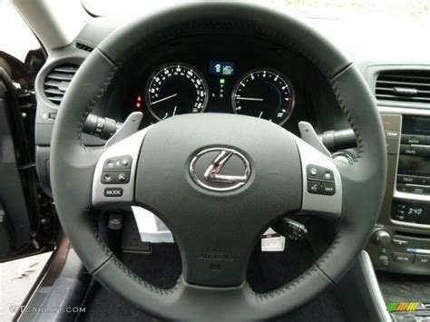 lexus steering wheel 2012 lexus is 250 awd black steering wheel photo 56533693