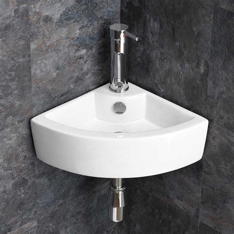 wall mounted basin sink wall mounted small cloakroom corner basin sink bathroom