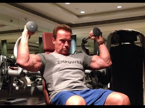 arnold schwarzeneggers  instagram workout