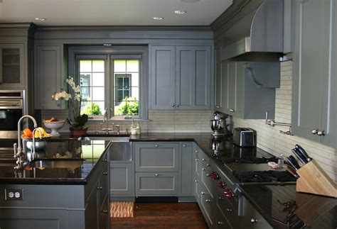 blue gray kitchen cabinets contemporary kitchen graciela rutkowski interiors