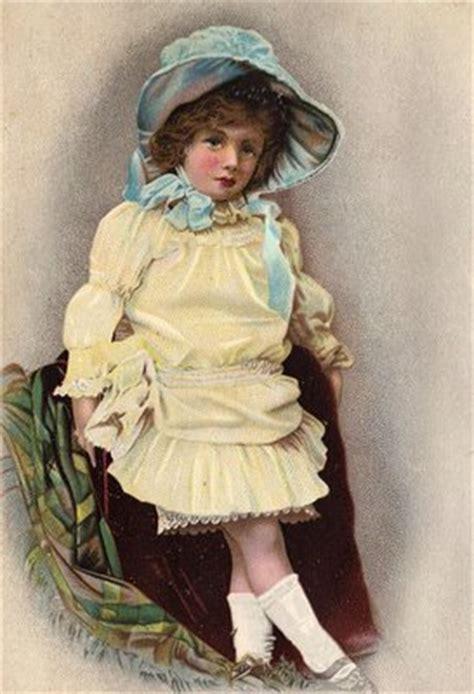 victorian clip art darling girl  sunbonnet