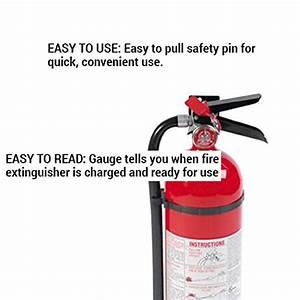 Fire Extinguisher Ul Rating Chart Kidde 466112 Abc Pro Multi Purpose Dry Chemical Fire