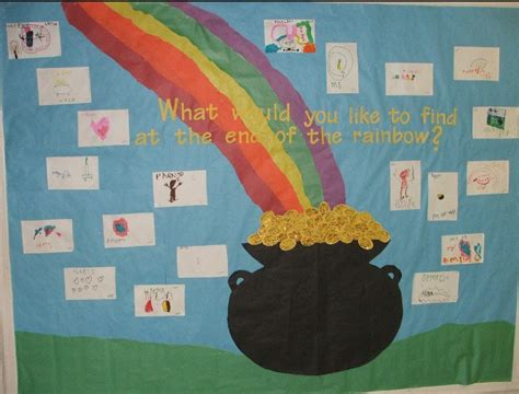 Saint Patrick's Day End Of The Rainbow Bulletin Board For