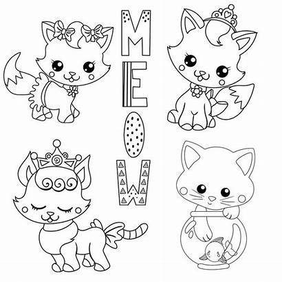 Cats Coloring Cutest Adorable Pages Cat
