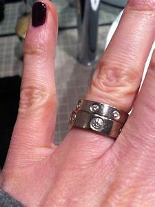 Cartier love ring vs love wedding band great difference for Wedding band vs engagement ring