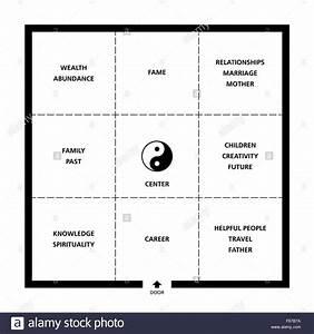 Feng Shui Raum : baguas feng shui quadratischer raum klassifizierung beispielhafte ideale zimmer mit t r neun ~ Markanthonyermac.com Haus und Dekorationen