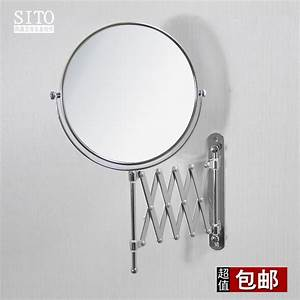 6quot or 8quot bathroom mirror for makeup cosmetics extendable for Wall mounted extendable mirror bathroom