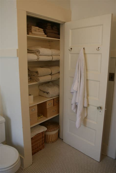 Closet In The Bathroom by Hello Lover Hello Linen Closet