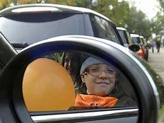 перевозка детей в машине на переднем сиденье