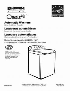Kenmore Washer 110 2806 User Guide