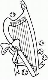 Pages Coloring St Patrick Lyre Printable Patricks Holiday Harp Sheets Sheet Colouring Season Activity Printables sketch template