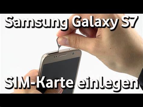 samsung galaxy  vodafone sim karte einlegen youtube