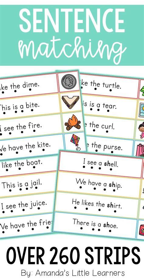 sentence matching strips bundle  images cvc word