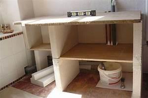 stunning meuble salle de bain beton cellulaire pictures With meuble salle de bain beton cellulaire