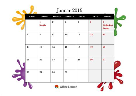 powerpoint kostenlose kalendervorlagen office