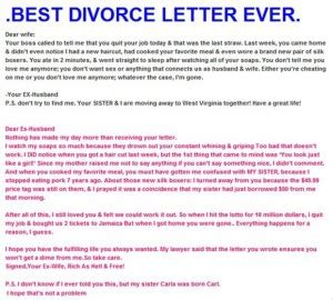 letter to my cheating husband divorce quotes for quotesgram 23227 | 1811210707 z best divorce letter ever