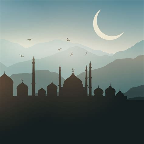 ramadan landscape background   vector art