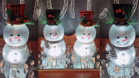dollar tree diy lighted   snowmen christmas