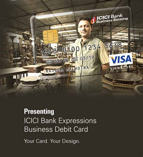 expressions business debit card apply  icici