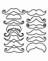 Mustache Template Outline Clipart Printable Moustache Coloring Pages Mustaches Cliparts Cupcake Photobooth Pdf Lorax Types Drawing Props Prop Moustaches Clip sketch template
