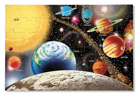 amazon com melissa doug solar system 48 pcs floor
