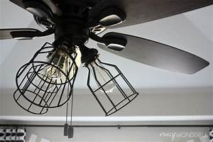 Ceiling fan cage light kit : Living room best caged ceiling fan for home interior