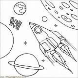 Coloring Spaceship Pages Satellite Space Ship Rocket Shuttle Drawing Printable Illustration Outer Fantasy Easy Boys Papers Rockets Play sketch template