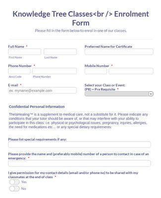 participant registration form template jotform