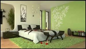 Deco Chambre Zen : deco chambre zen bambou avec stunning chambre verte zen ideas design trends 2017 shopmakers us ~ Preciouscoupons.com Idées de Décoration