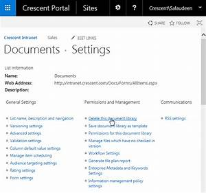 august 2015 salaudeen rajack39s sharepoint diary With sharepoint document library delete