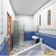Indian Bathroom Wall Tiles Design by White Blue Feels Fresh To Eyes GharExpert