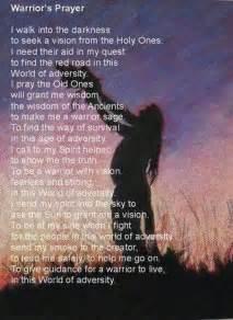 Native American Warrior Prayer
